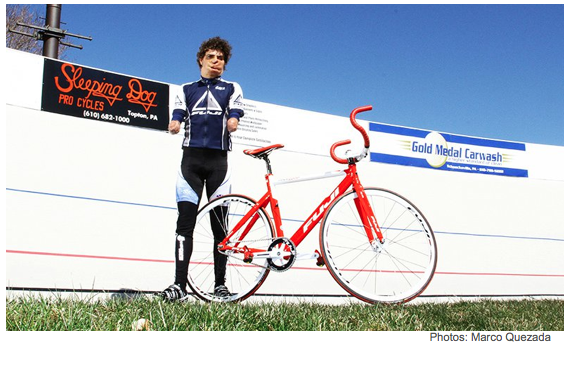 Damian Lopez Alfonso Poses with Bike