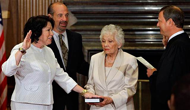 Justice Sonia Sotomayor Sworn In