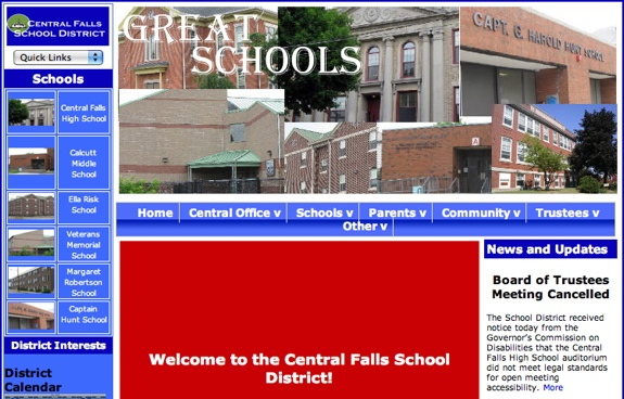 The Central Falls School District of Rhode Island