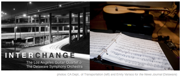 Interchange: The LA Guitar Quartet and the Delaware Symphony Orchestra