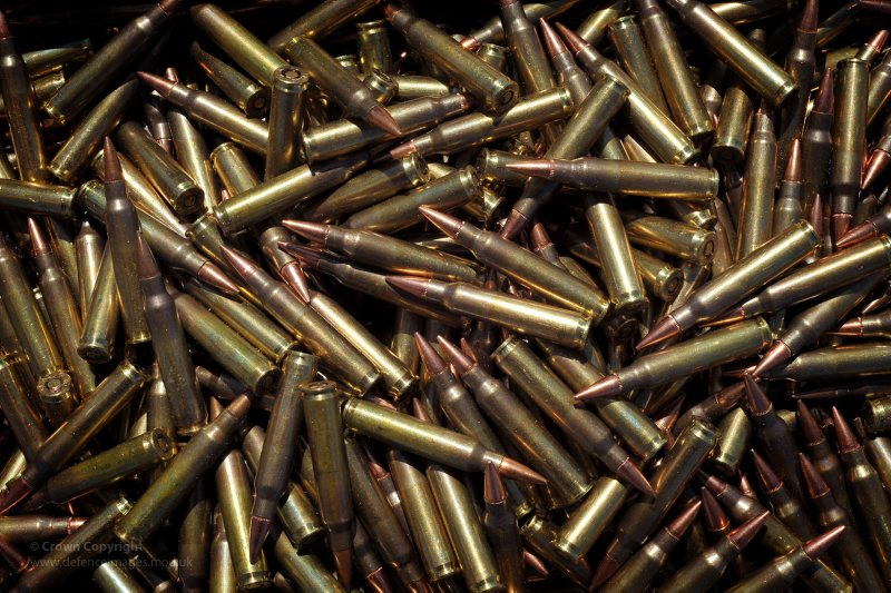 5.56mm Ammunition Rounds for SA80 Rifle