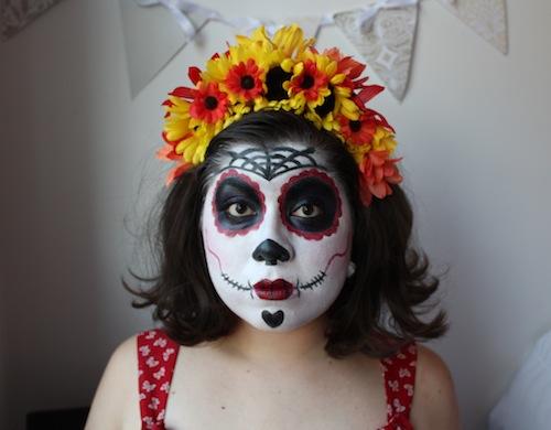 guest post  sugar skull makeup for d u00eda de los muertos