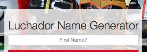 Luchador Name Generator