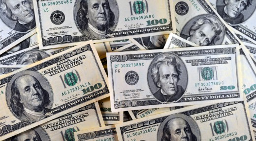 US currency is seeen in this January 30,