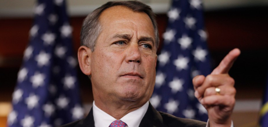 John Boehner Holds Press Briefing At U.S. Capitol