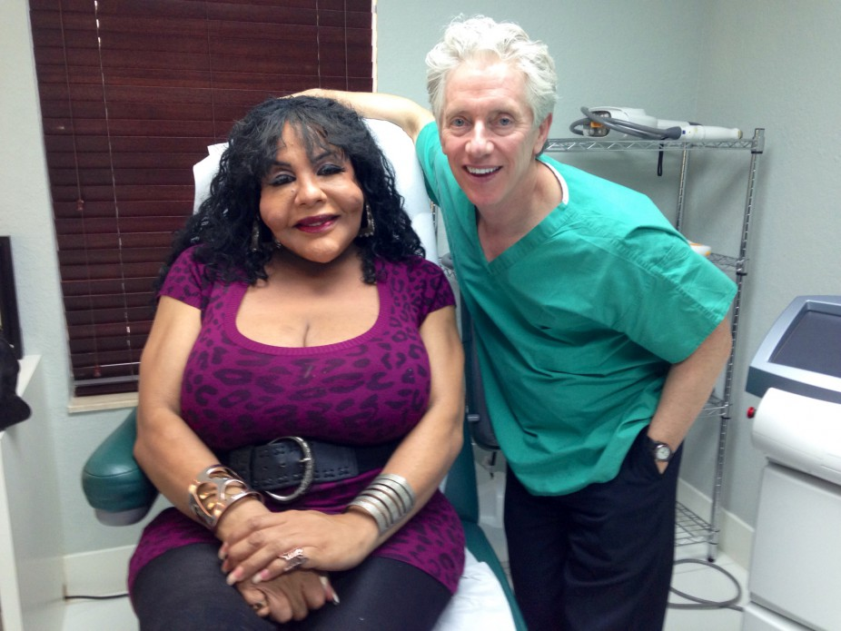 Trans woman Rajinda Narinesingh at an appointment with her plastic surgeon, Dr. John Martin. (Photo: Julia Alsop)