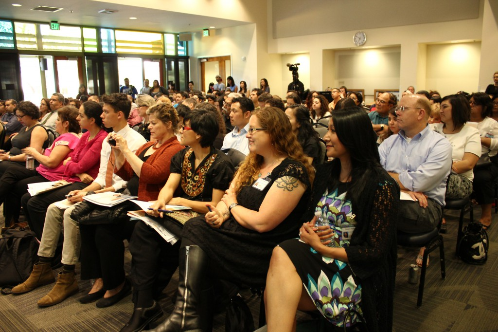 The welcoming address was done by Roxana Reyes (front row, end seat), who is a UC Davis Community Counselor and part of the Community Advising Network.