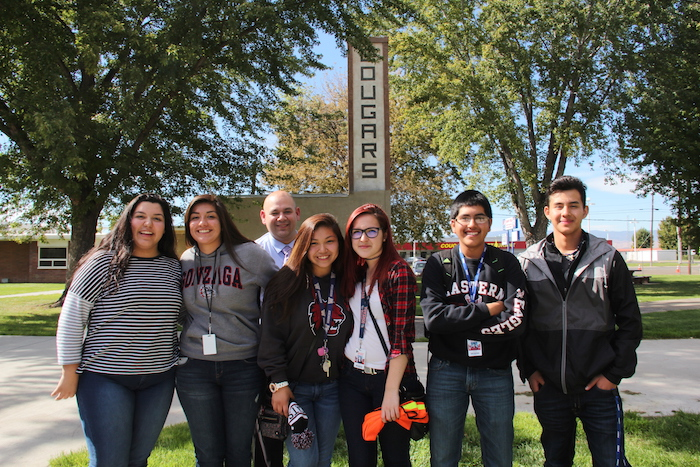 Mexican-American and Yakama students at White Swan High School. In the past, there was a lot of hatred between the two groups. But the next generation is learning to get along.