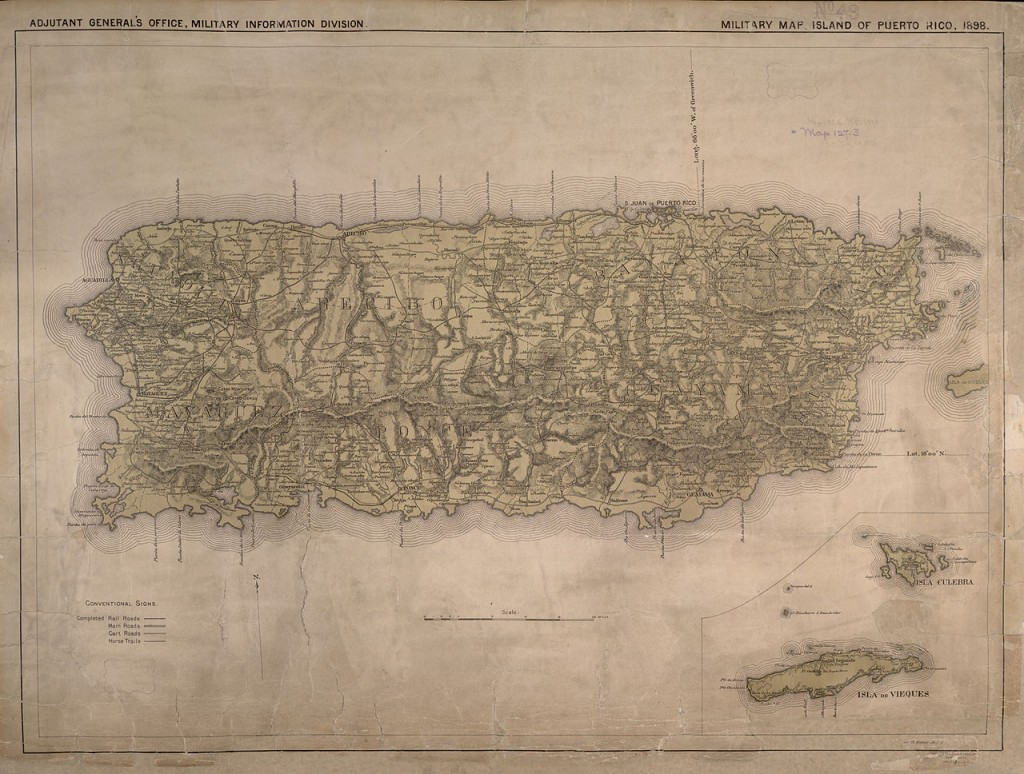 1898 Military map of Puerto Rico (Wikimedia Commons)