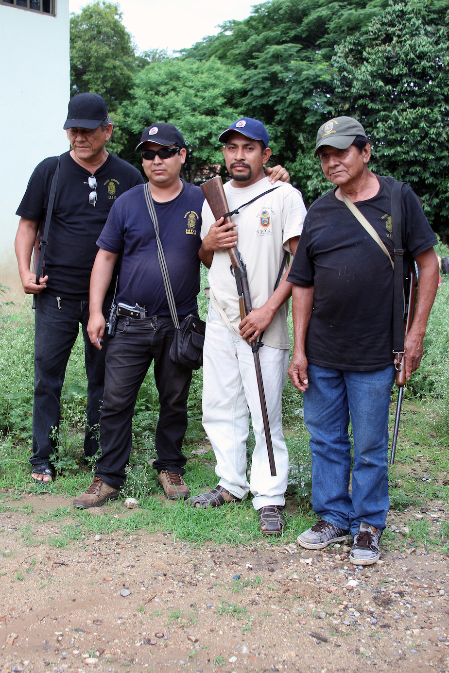 One of the local community self-protection groups organized by Unión de Pueblos y Organizaciones del Estado de Guerrero or the Union of People and Organizations of Guerrero.