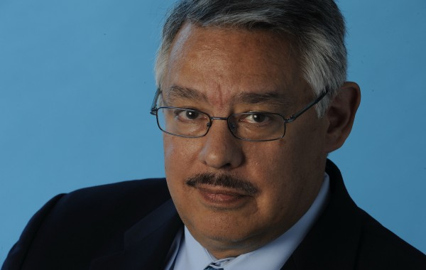 Juan Gonzalez, a Daily News employee, posing for a head shot in the studio in Manhattan, New York on July 28, 2009.   PLEASE DO NOT DELETE