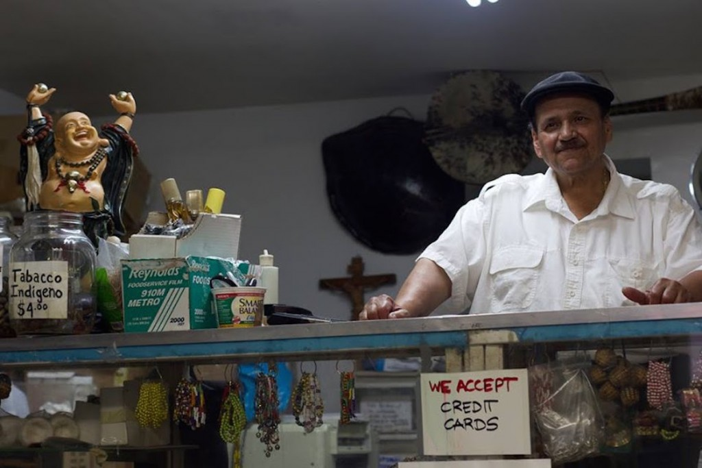 "Jorge"" Justo"" Vargas behind the counter of his iconic botanica in 2014. (CREDIT: Andrew J. Padilla)"