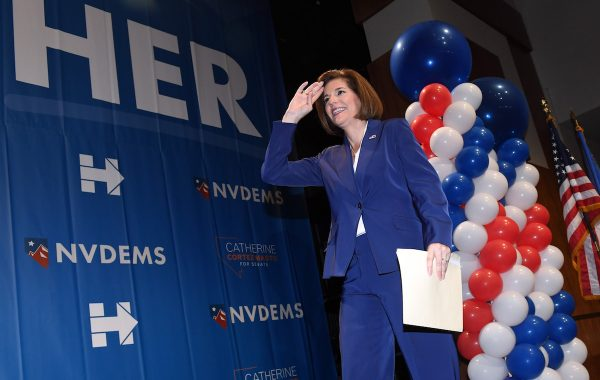 LAS VEGAS, NV - NOVEMBER 08:  Former Nevada Attorney General and Democratic U.S. Senate candidate Catherine Cortez Masto walks onstage after winning her senate race against U.S. Rep Joe Heck (R-NV) at the Nevada Democratic Party's election results watch party at the Aria Resort & Casino on November 8, 2016 in Las Vegas, Nevada. Masto will replace outgoing U.S. Senate Minority Leader Harry Reid (D-NV).  (Photo by Ethan Miller/Getty Images)