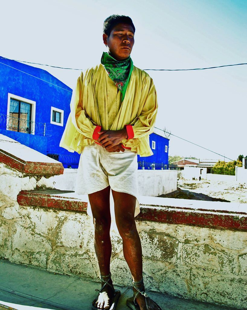 A young Raramuri in Creel, after receiving threats for not working with the narcos. (Photo by Luis Chaparro)