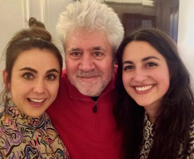 From left to right: Fernanda Echavarrí, Pedro Almodóvar and Antonia Cereijido