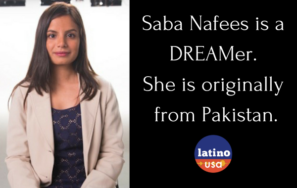 Saba Nafees is a DREAMer.She is originally from Pakistan.
