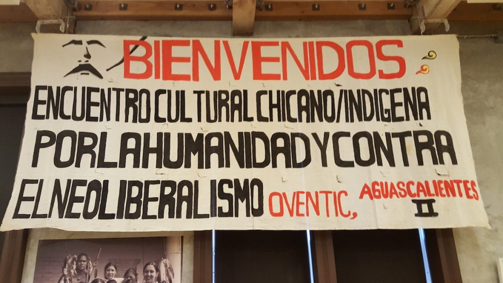 The banner from 1997 (Photo by Adriana Maestas)